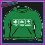 EAT SLEEP KANGAROO'S LOVE KANGAROO HOODY HOODIE ALL SIZES & COLOURS